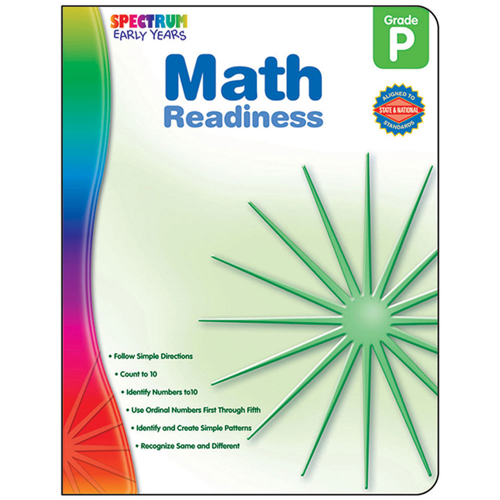 CD-104463 - Math Readiness Spectrum Early Years in Math