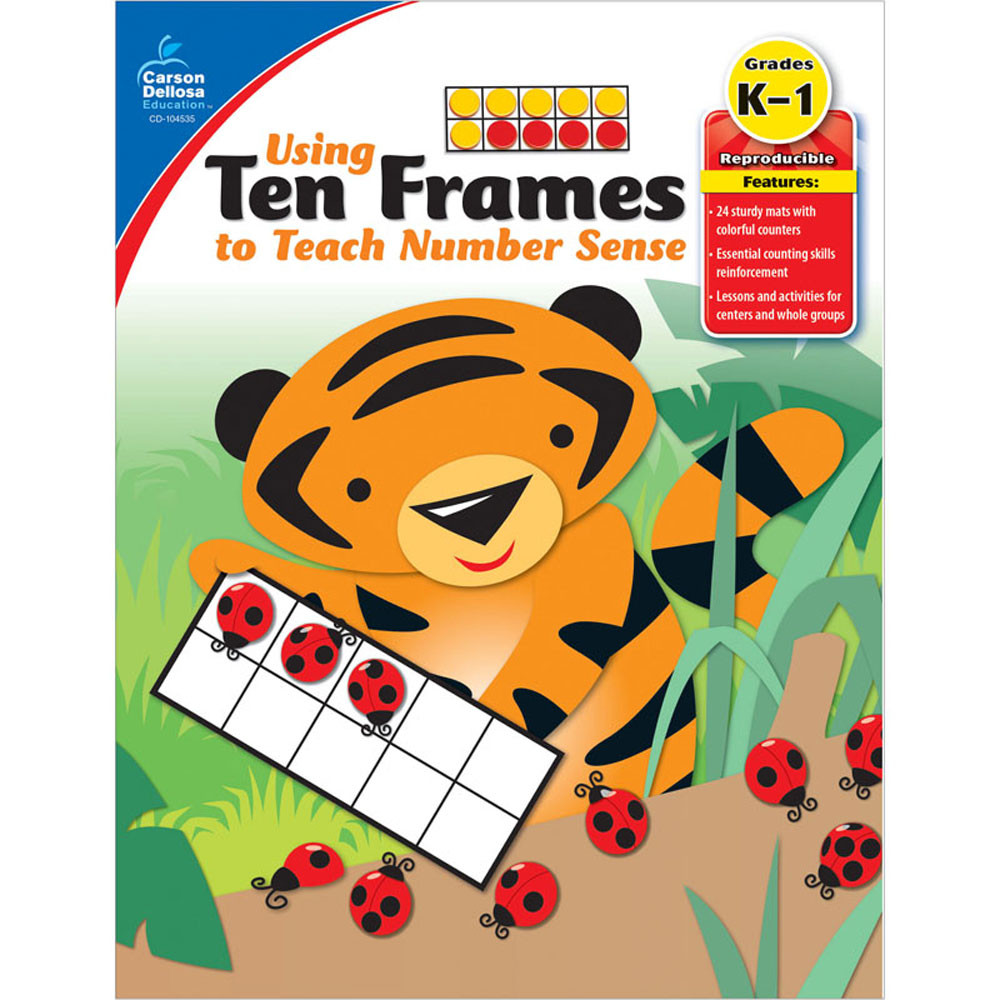 CD-104535 - Using Ten Frames To Teach Number Sense in Numeration