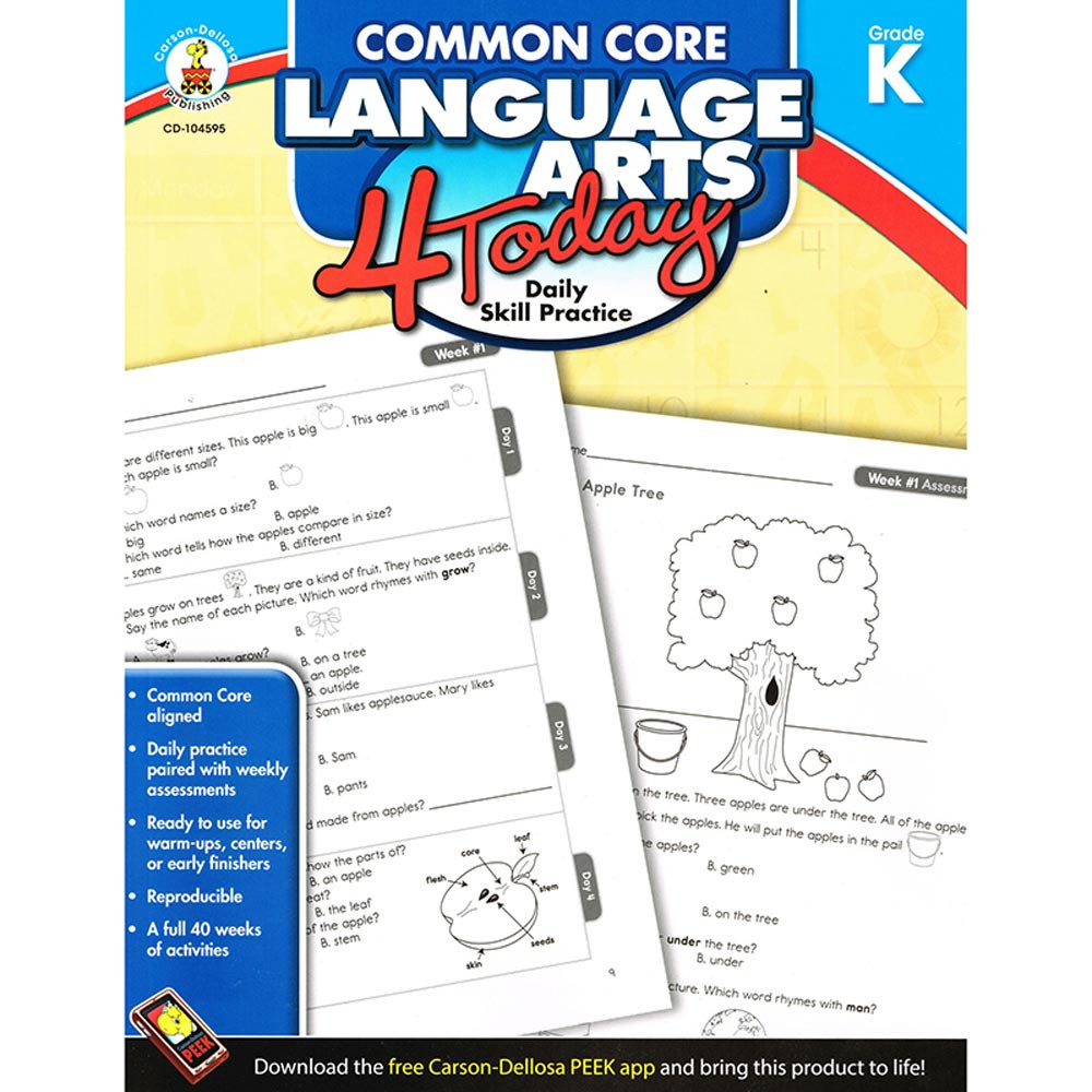 CD-104595 - Language Arts 4 Today Gr K in Activities