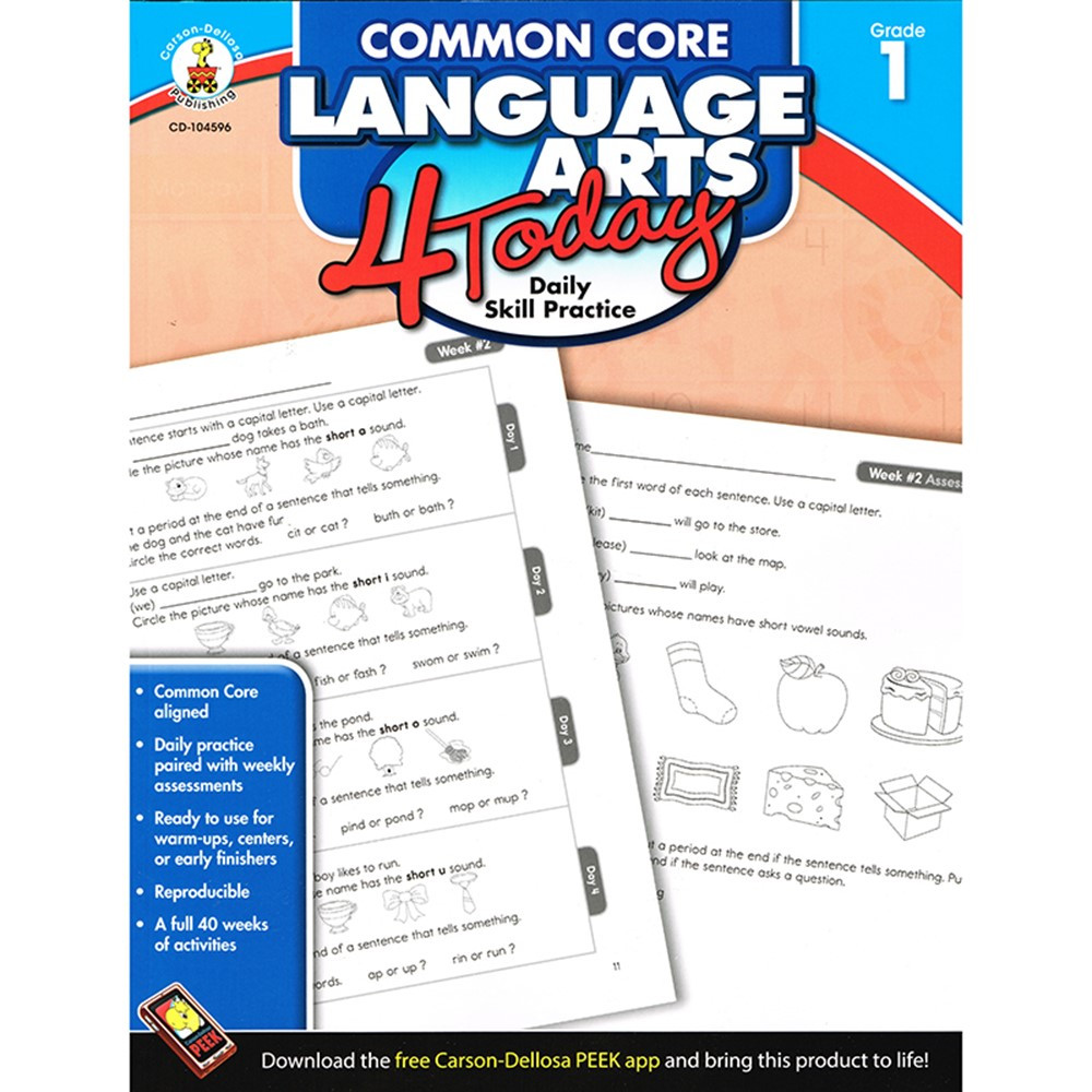 CD-104596 - Language Arts 4 Today Gr 1 in Activities