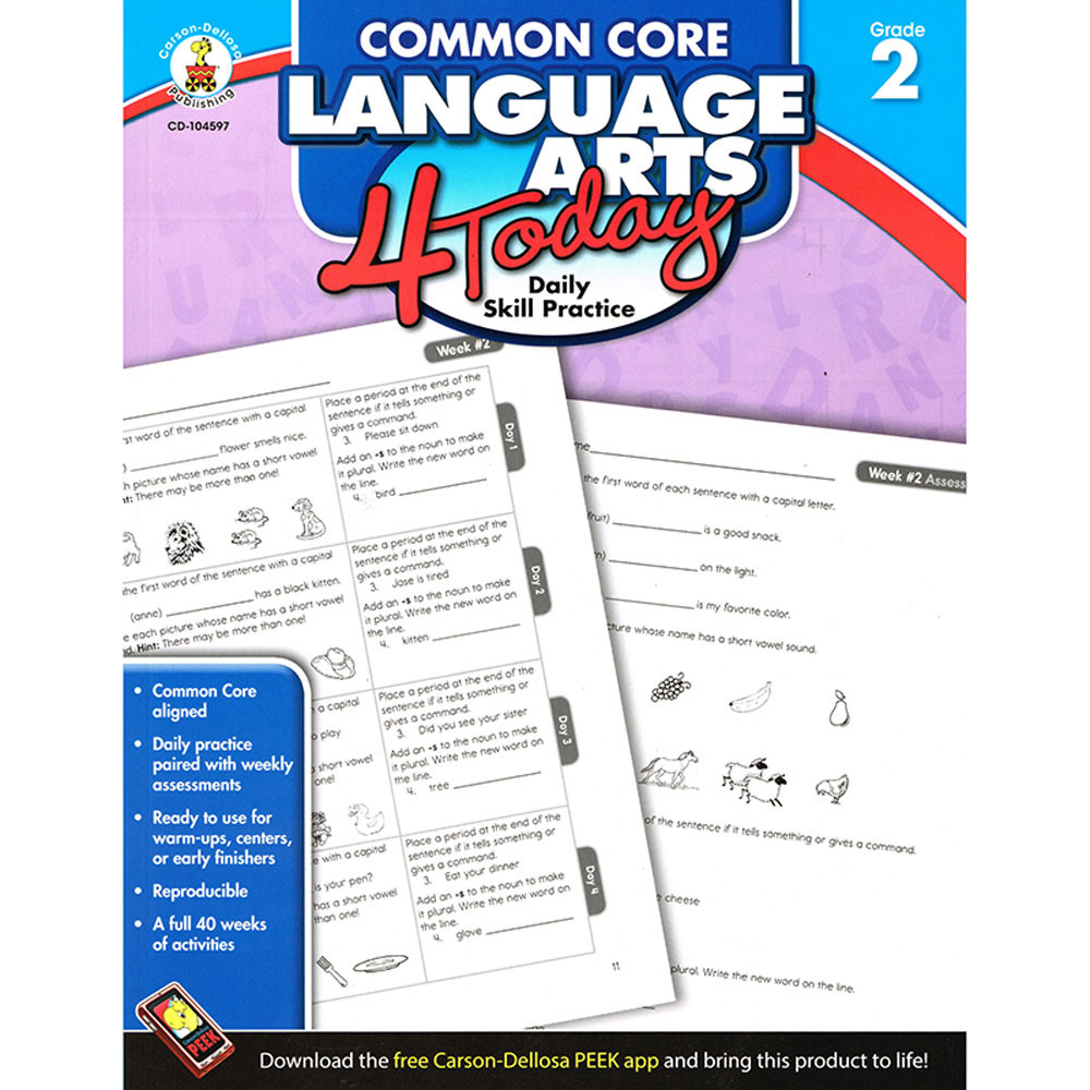 CD-104597 - Language Arts 4 Today Gr 2 in Activities
