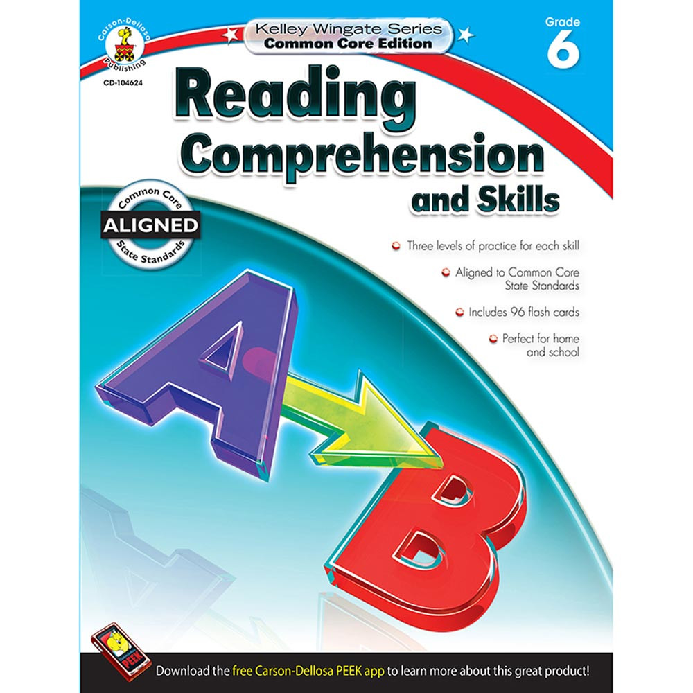 CD-104624 - Book 6 Reading Comprehension And Skills in Comprehension