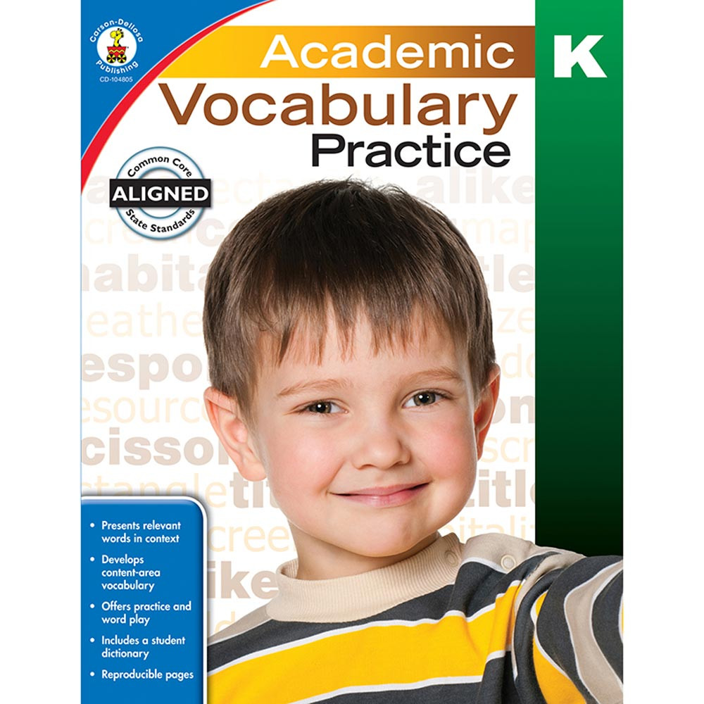 CD-104805 - Academic Vocabulary Practice Gr K in Vocabulary Skills