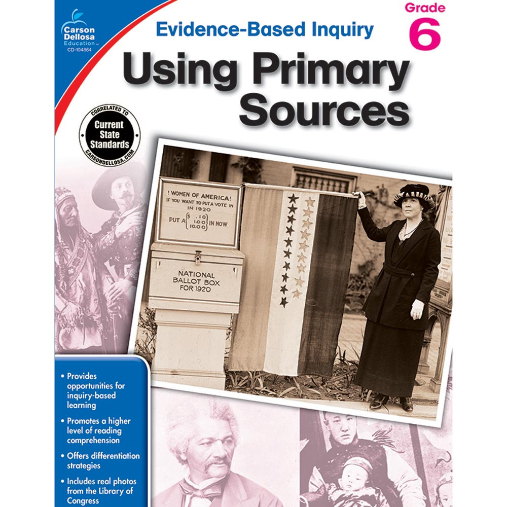 CD-104864 - Using Primary Sources Gr 6 in History