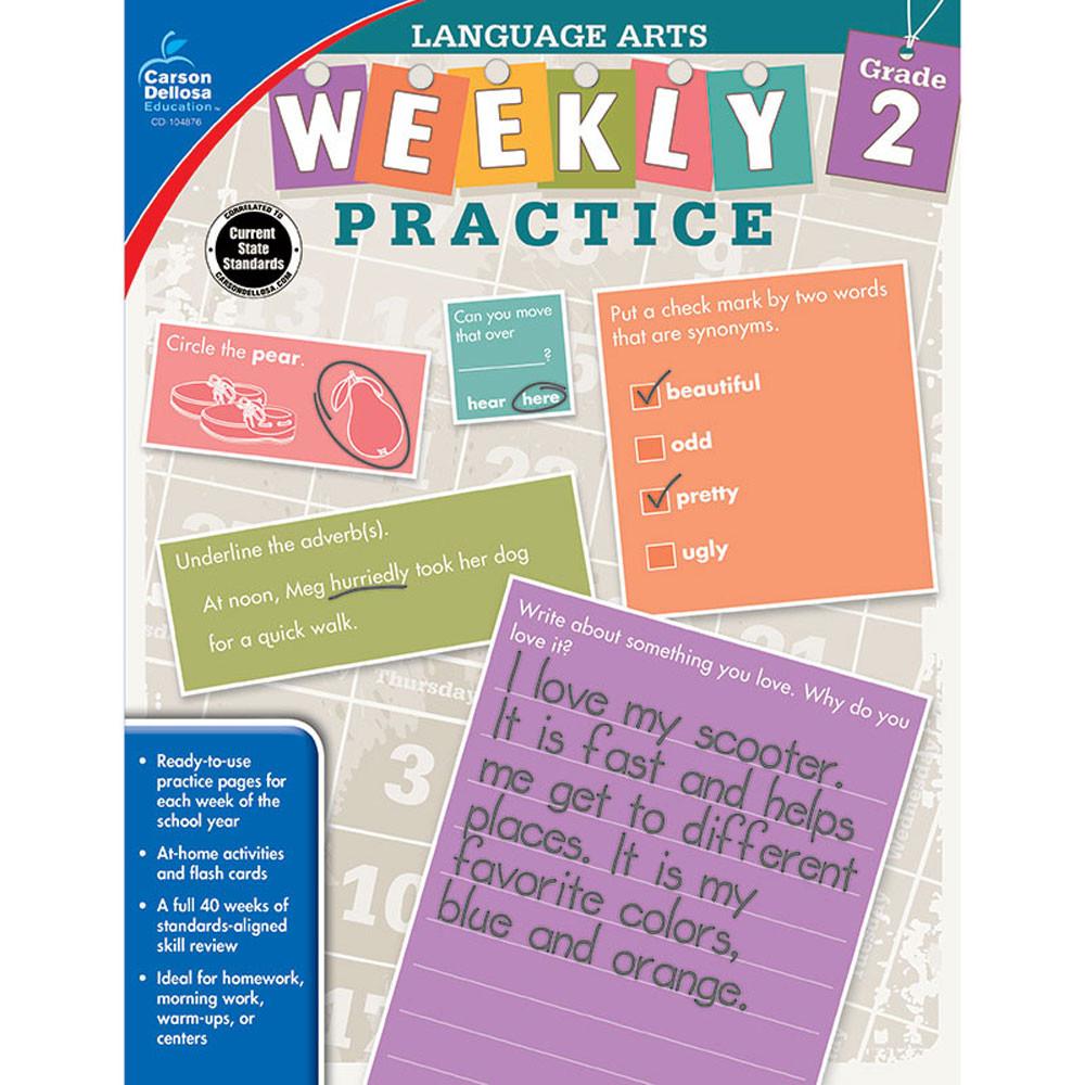 CD-104876 - Weekly Practice Language Arts Gr 2 in Activities