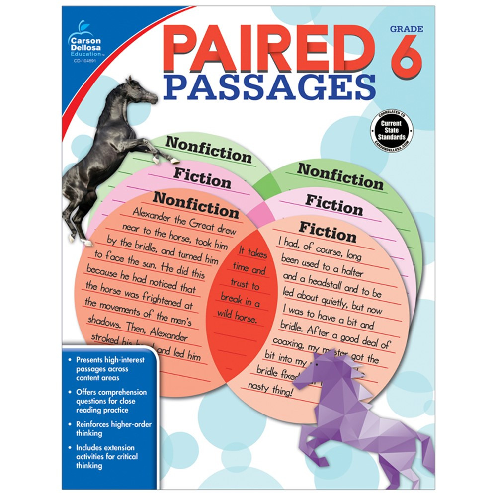 CD-104891 - Paired Passages Gr 6 in Comprehension