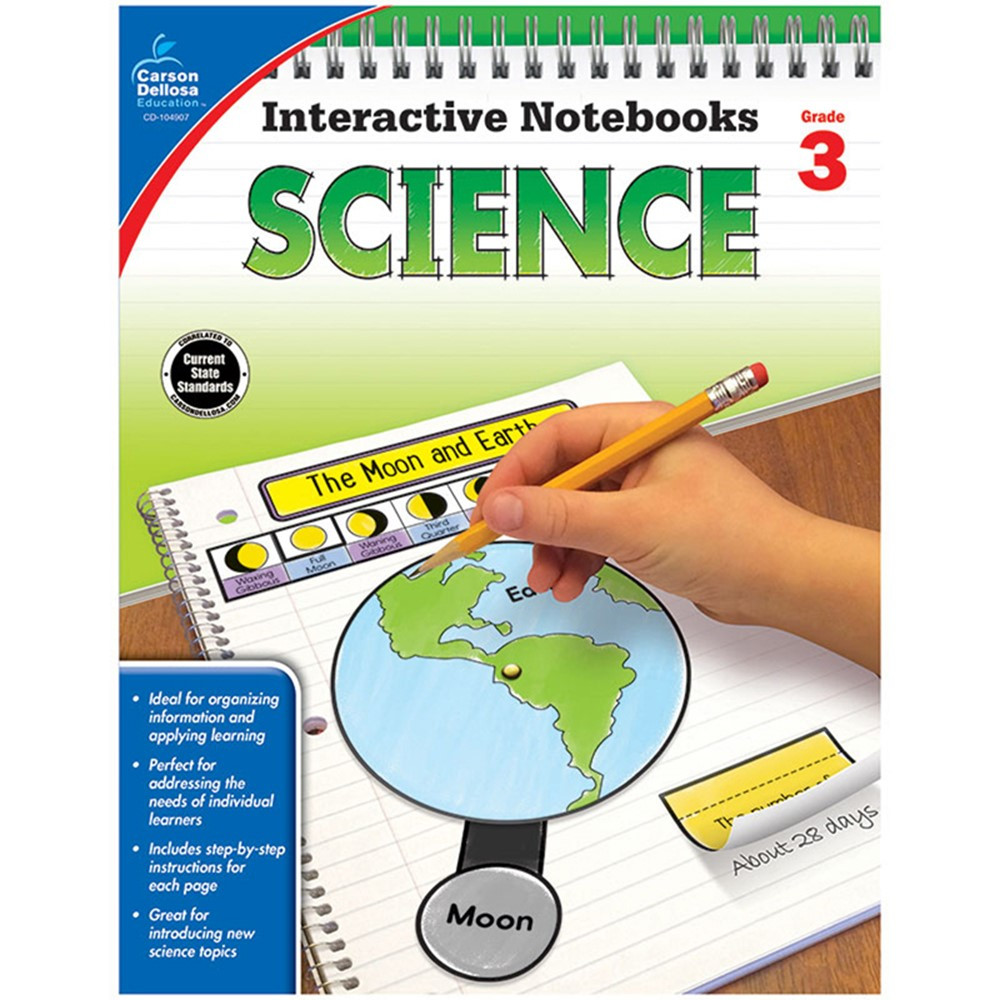 CD-104907 - Interactive Notebooks Science Gr 3 in Activity Books & Kits