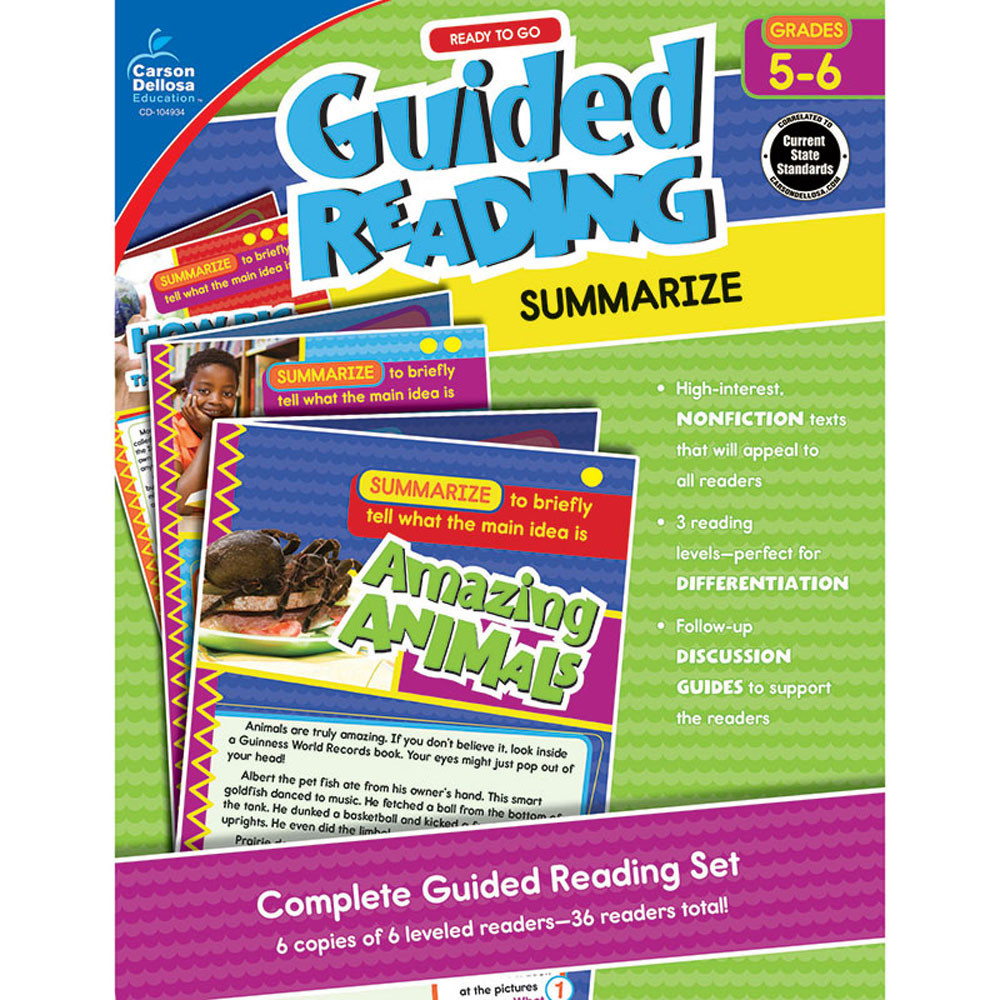 CD-104934 - Guided Reading Summarize Gr 5-6 in Comprehension