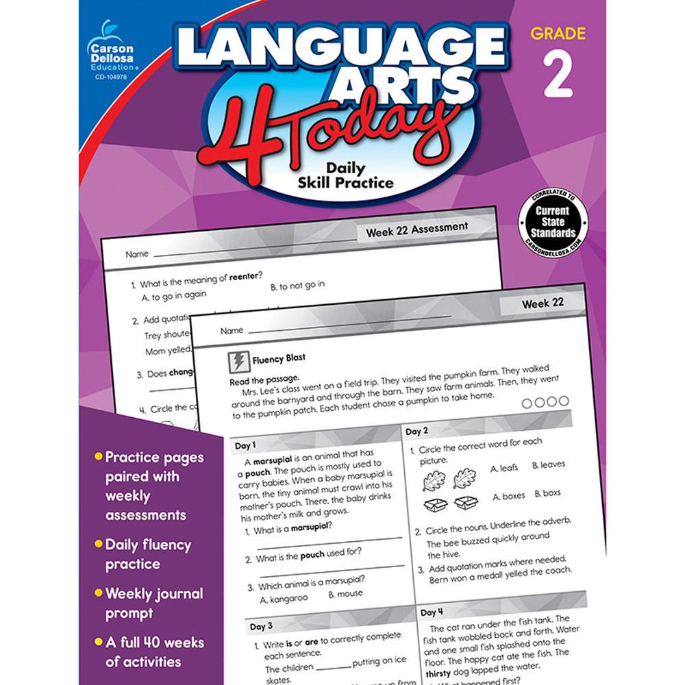 CD-104978 - Language Arts 4 Today Gr 2 in Activities