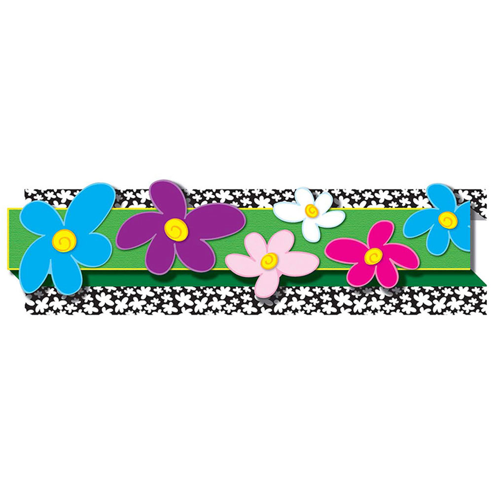 CD-108051 - Pop-Its Flowers in Border/trimmer