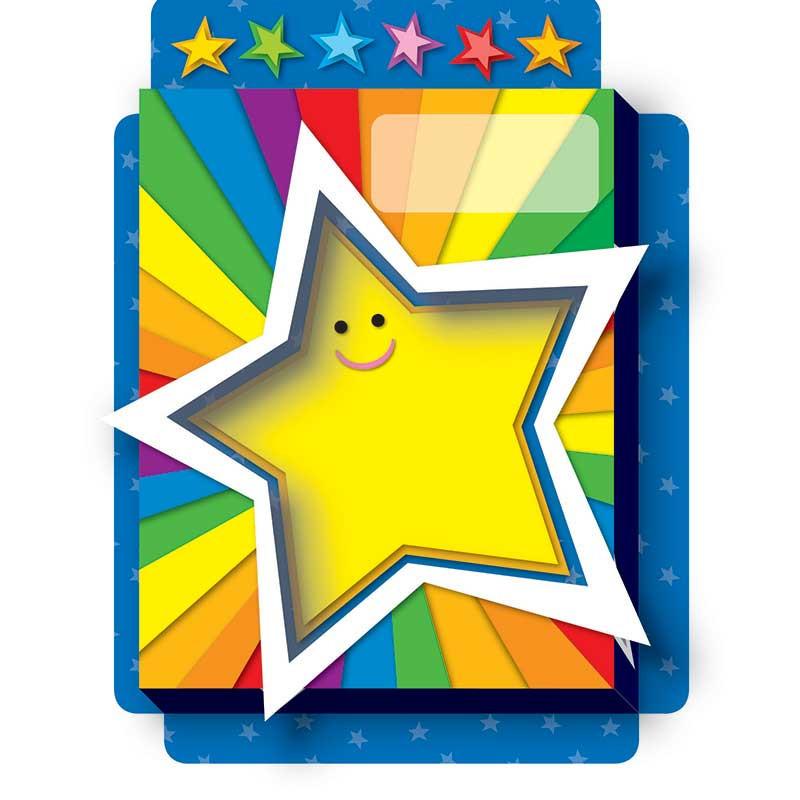 CD-108070 - Rainbow Stars Pop Its Pocket in Organizer Pockets