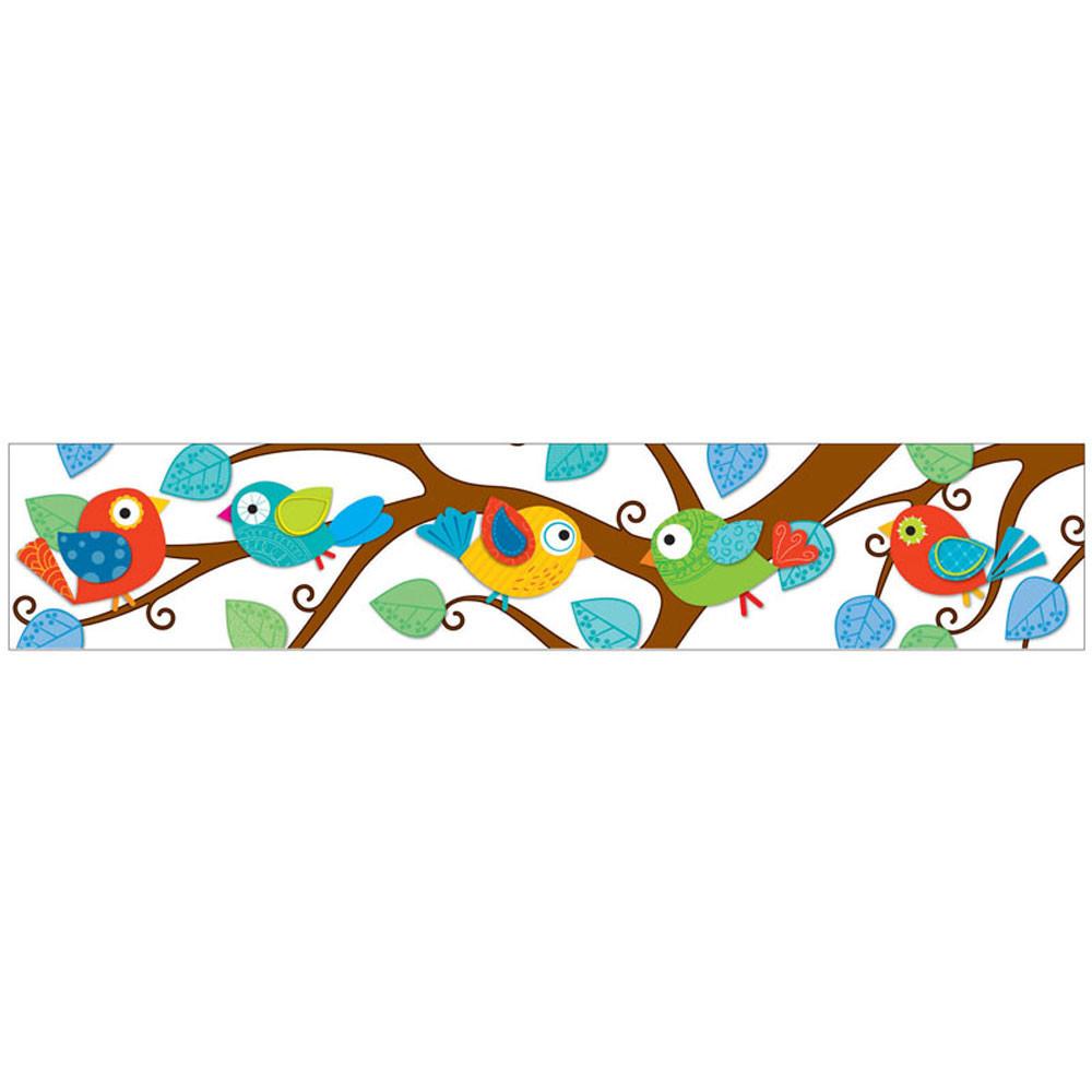 Classroom Border Design : Boho birds straight borders cd carson dellosa