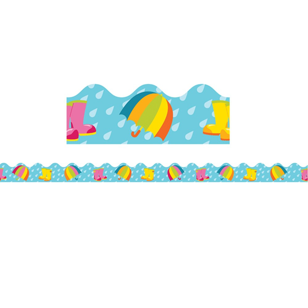 CD-108225 - Spring Showers Scalloped Border in Holiday/seasonal