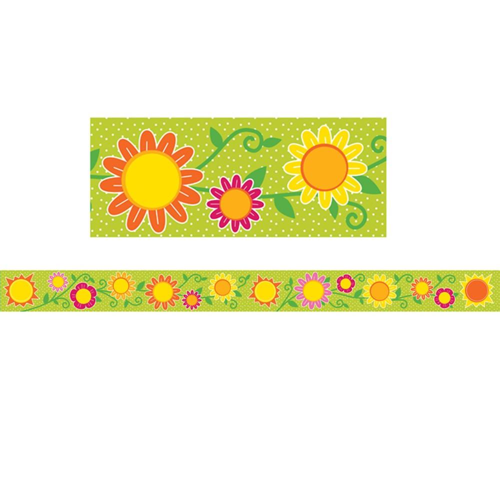 Sunshine Amp Flowers Straight Borders Cd 108231 Carson