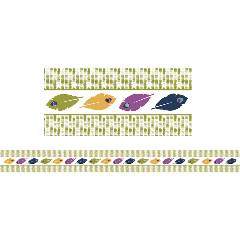 CD-108250 - You-Nique Feather Stripe Straight Borders in Border/trimmer