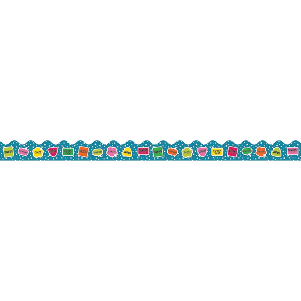 CD-108253 - School Pop Hello Scalloped Border in Border/trimmer