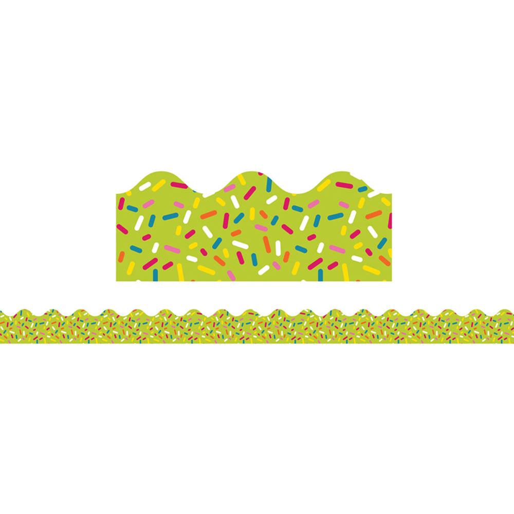 CD-108254 - School Pop Lime Sprinkles Scalloped Border in Border/trimmer