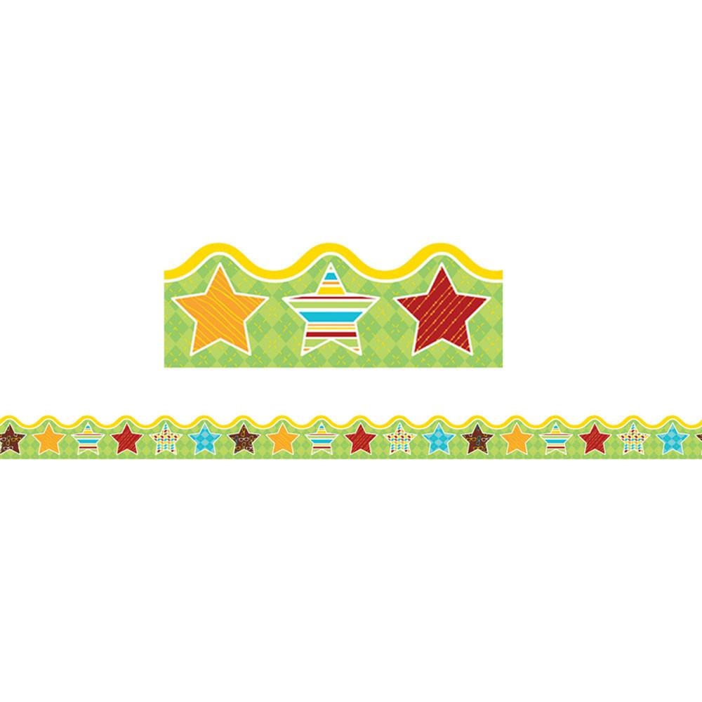 CD-108265 - Hipster Hip-Stars Scalloped Borders in Border/trimmer
