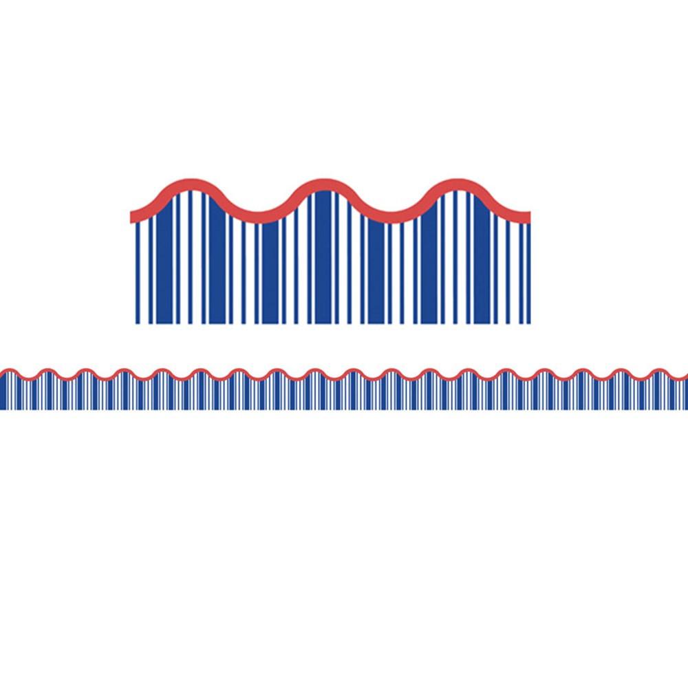 s s discover nautical stripe scalloped borders cd 108296 carson