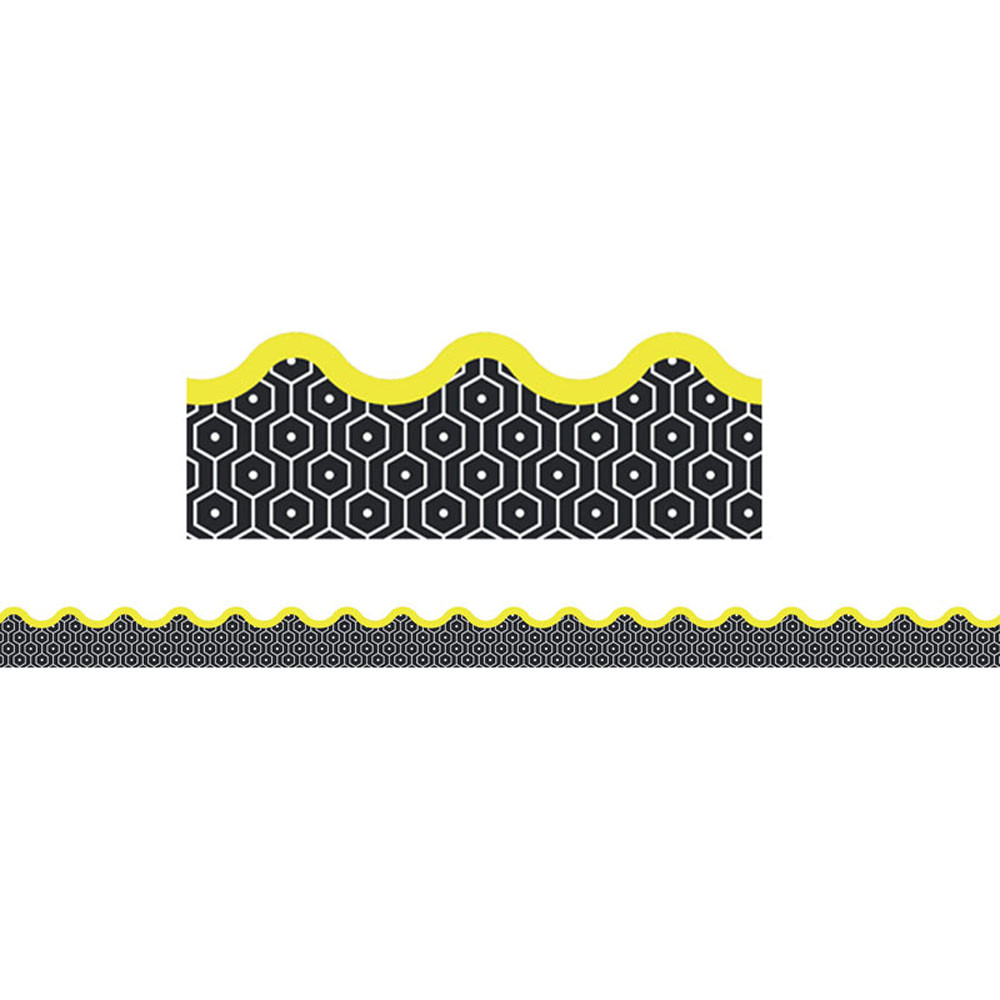 CD-108298 - Hexagons Scalloped Border Gr Pk-8 in Border/trimmer