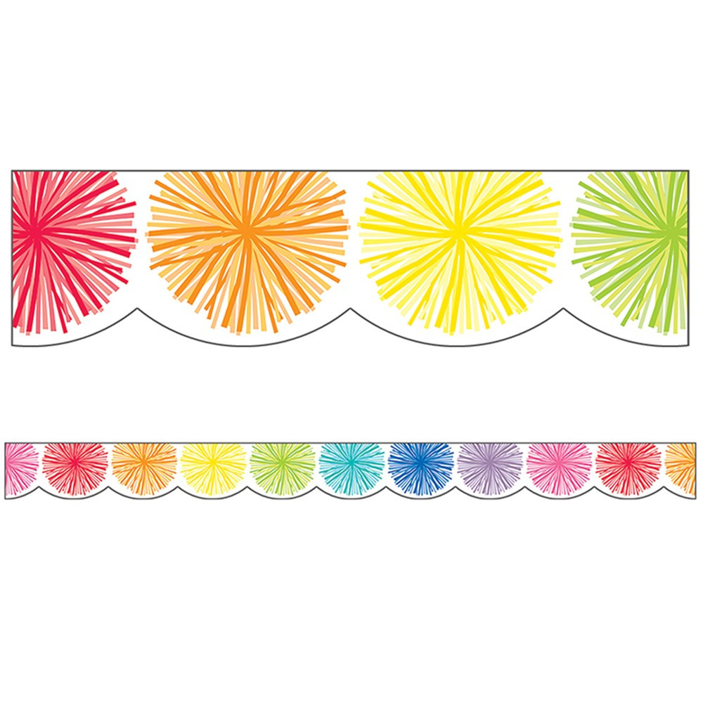 CD-108359 - Hello Sunshine Poms Scallped Border in Border/trimmer