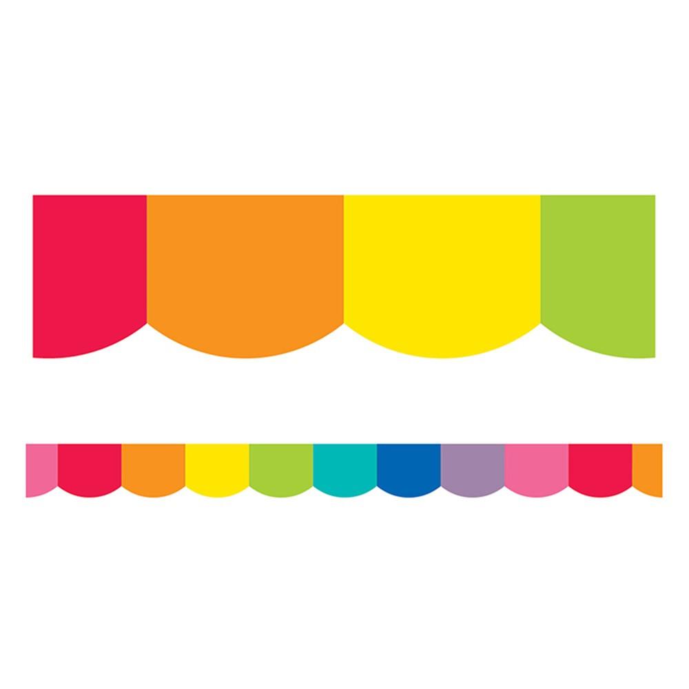 CD-108360 - Rainbow Scalloped Borders Hello Sunshine in Border/trimmer