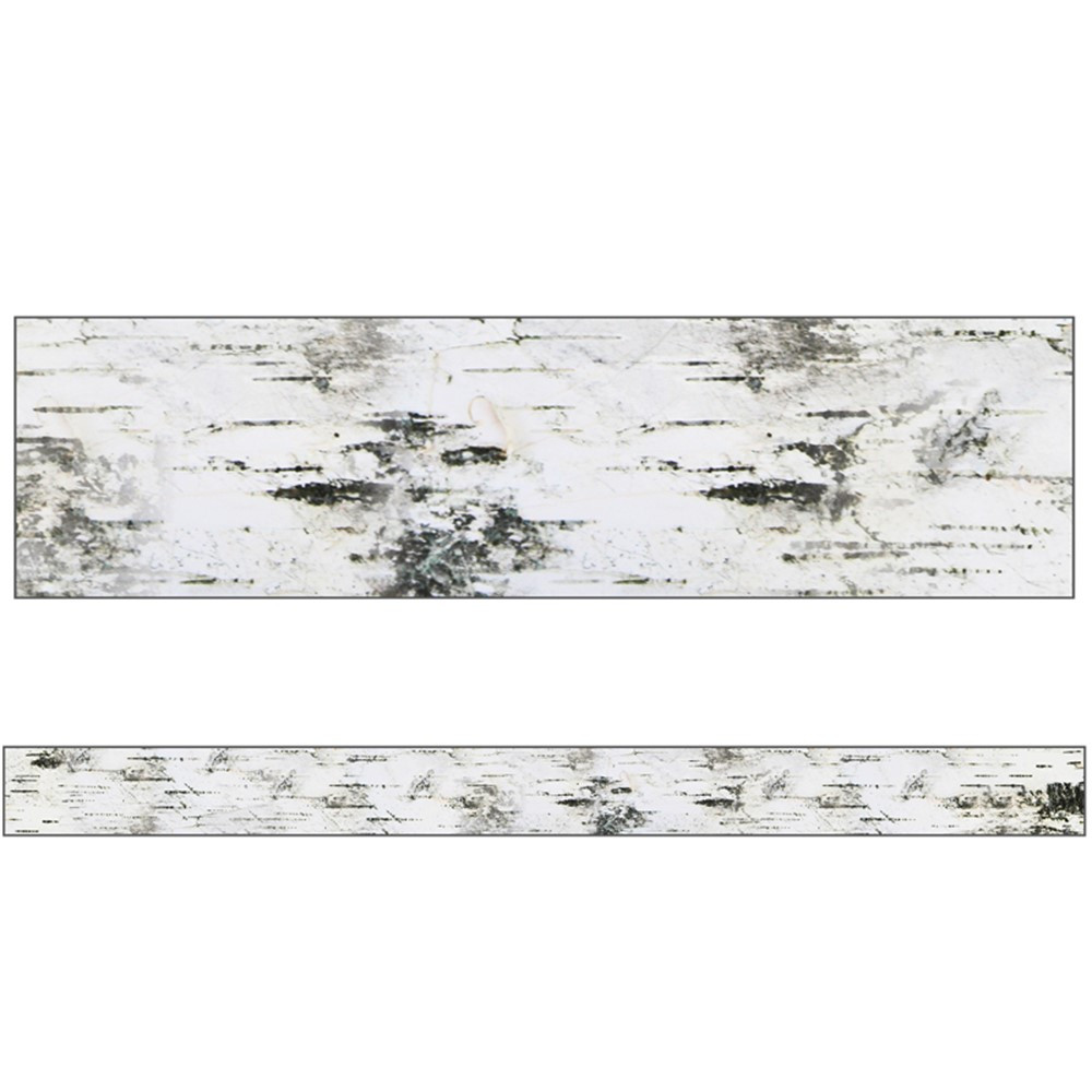 CD-108366 - Birch Tree Straight Borders Woodland Whimsy in Border/trimmer