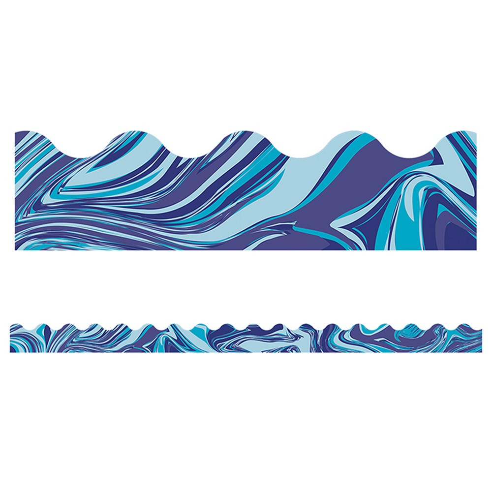 CD-108374 - Blue Marble Scalloped Borders in Border/trimmer