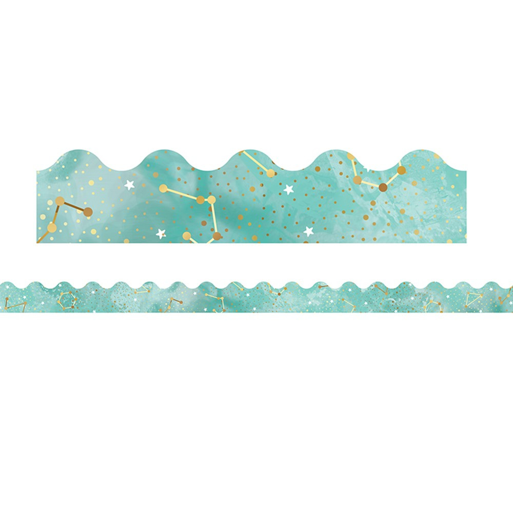 CD-108381 - Galaxy Constellations Scalloped Borders in Border/trimmer