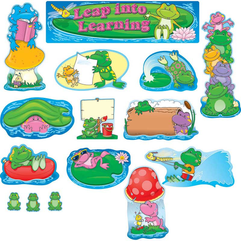 CD-110041 - Frogs Mini Bulletin Board Set in Classroom Theme