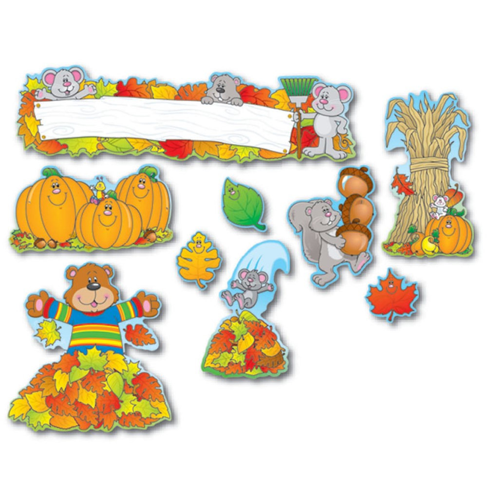 CD-110047 - Fall Mini Bulletin Board Set in Holiday/seasonal