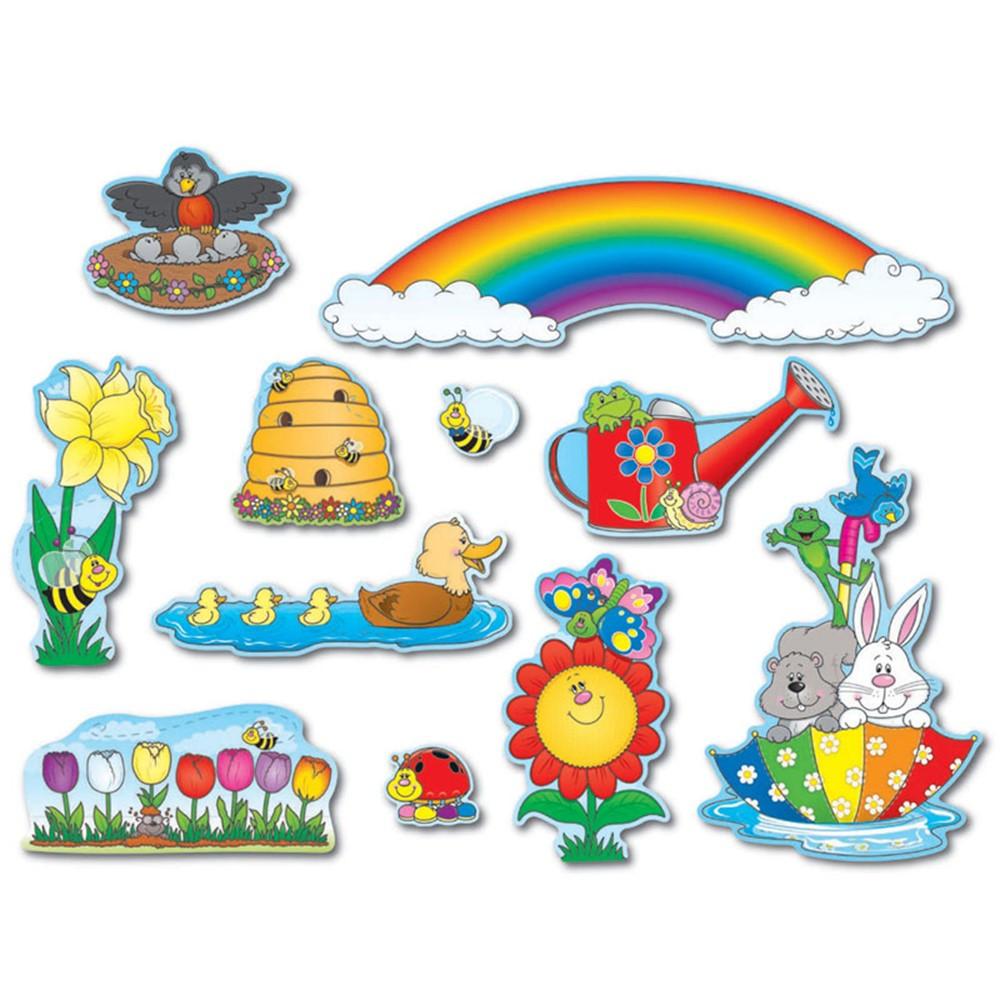 CD-110048 - Spring Mini Bulletin Board Set in Holiday/seasonal