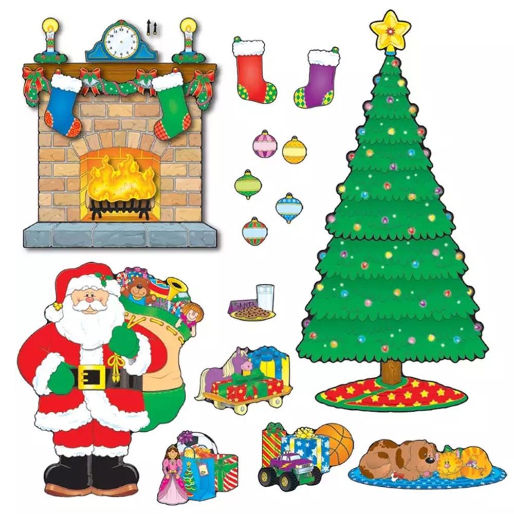 CD-110062 - Bulletin Board Set Christmas Scene in Holiday/seasonal