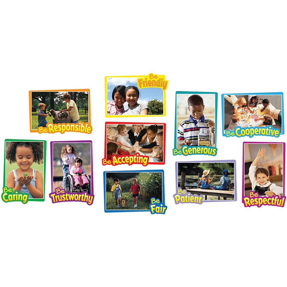 CD-110095 - First-Rate Character Traits Bulletin Board Set in Social Studies