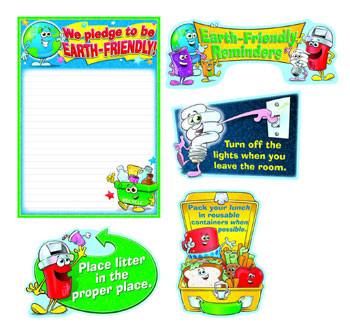CD-110108 - Earth-Friendly Reminders Bulletin Board Set in Science