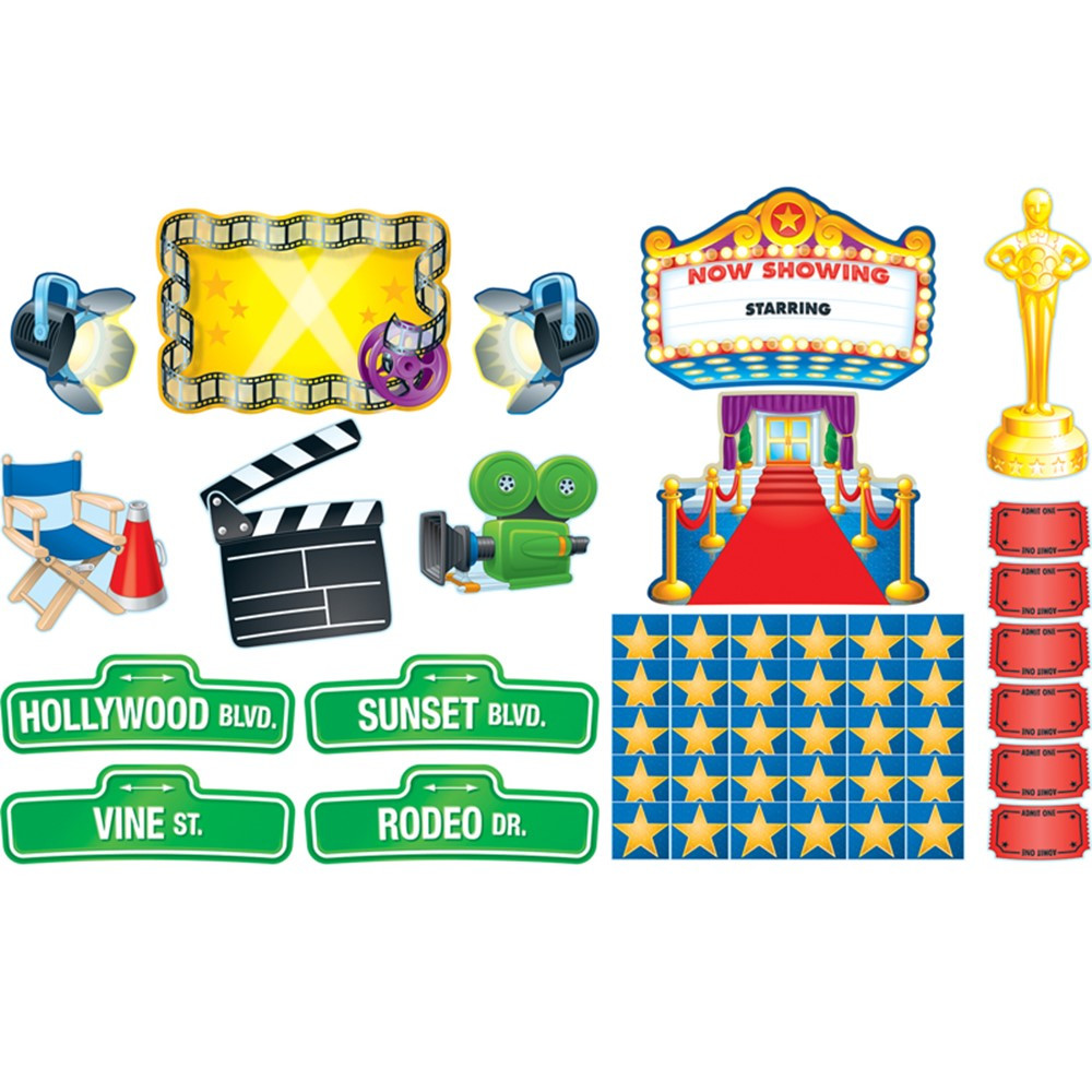 Classroom Decorations Bulletin Board Set ~ Lights camera action bulletin board set cd