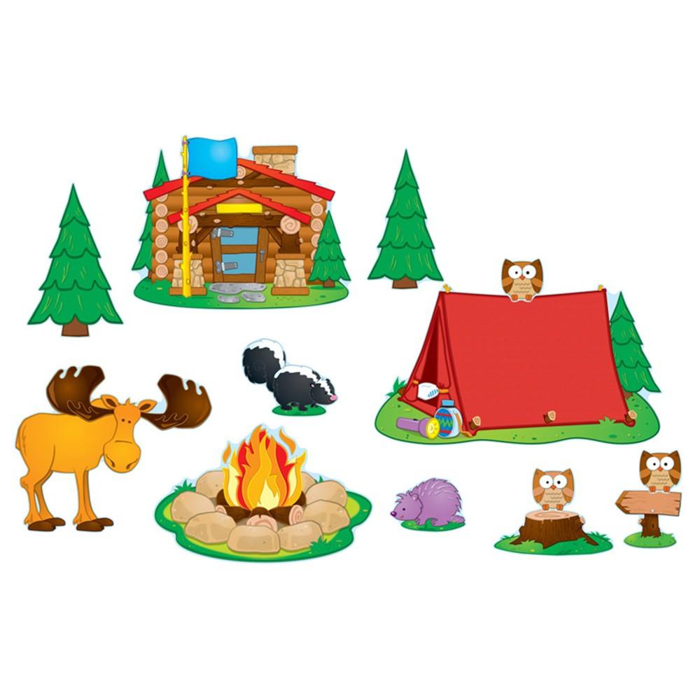 CD-110146 - Camping Bulletin Board Set in Classroom Theme