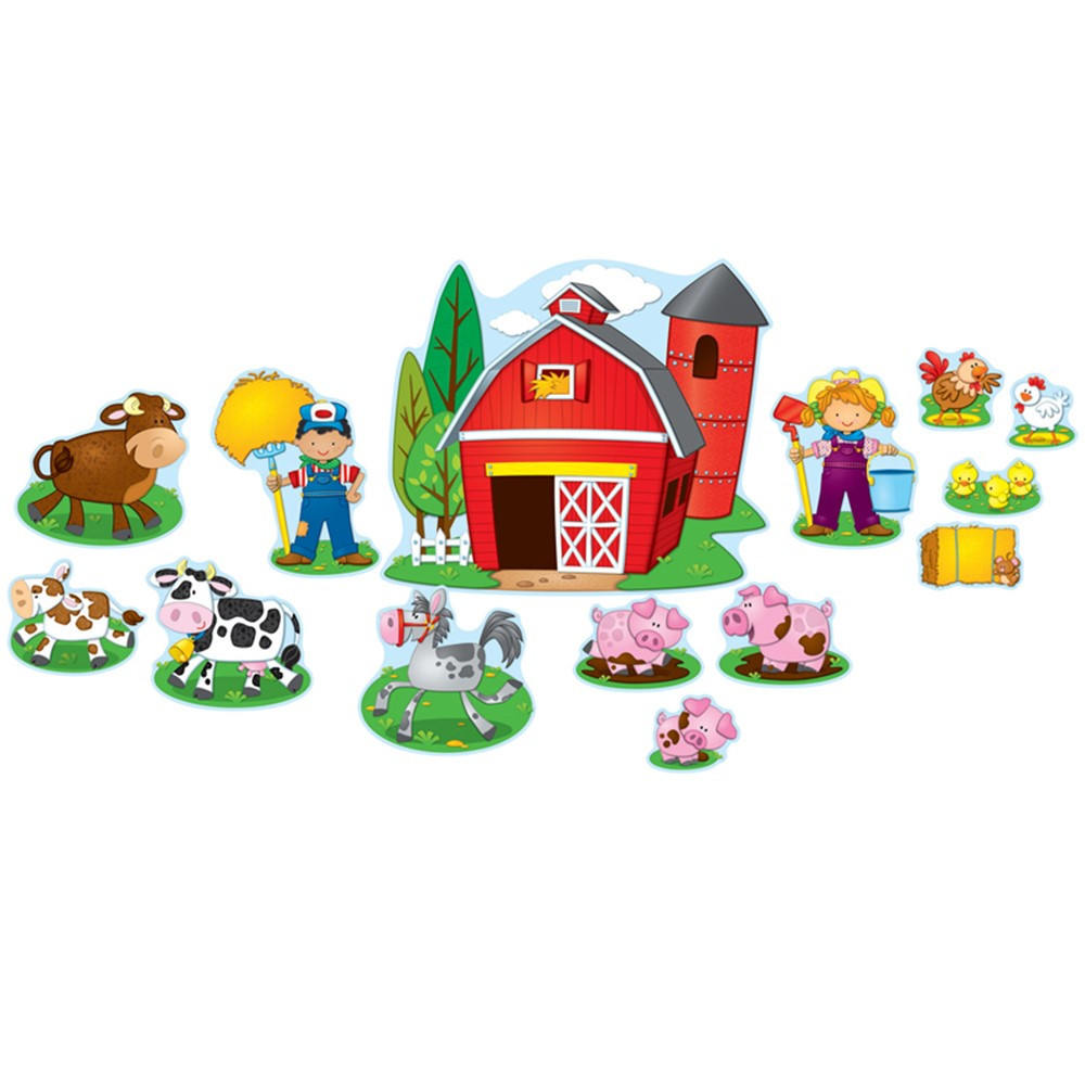 Classroom Decorations Bulletin Board Set ~ Farm bulletin board set cd carson dellosa