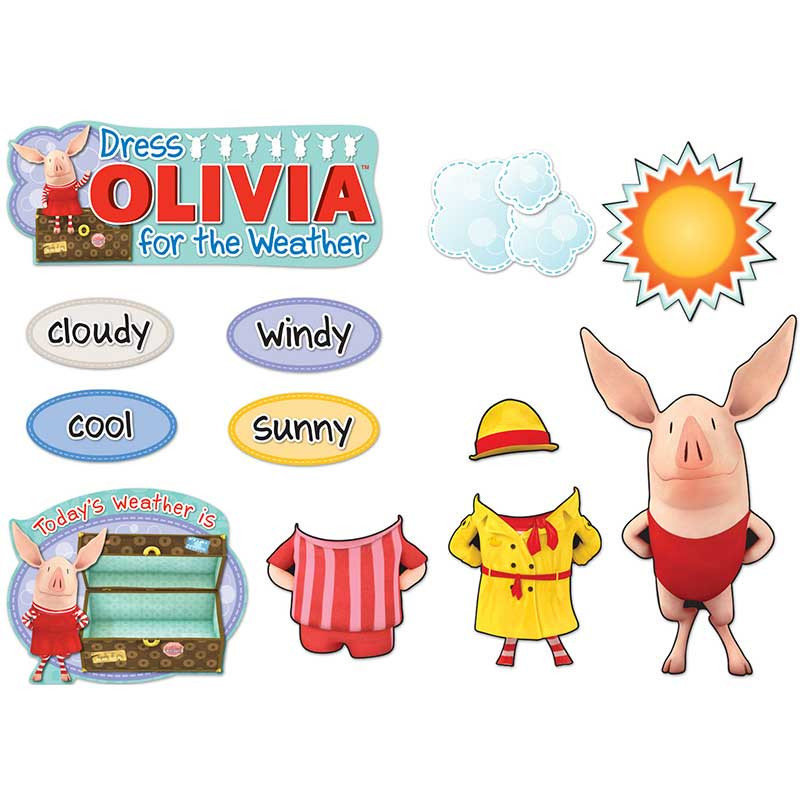 CD-110187 - Dress Olivia For The Weather Bulletin Board Set in Science