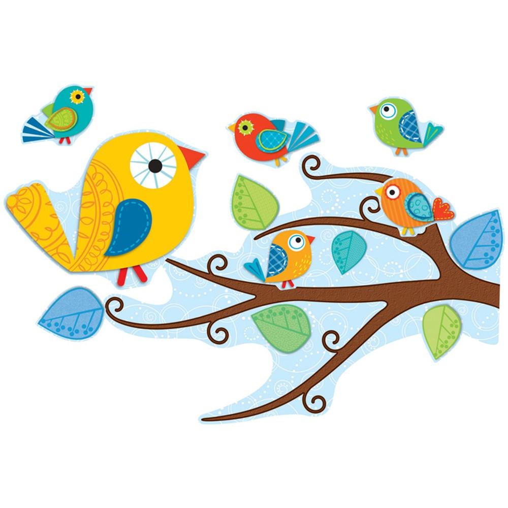 Boho Birds Bulletin Board Set Cd 110202 Carson Dellosa