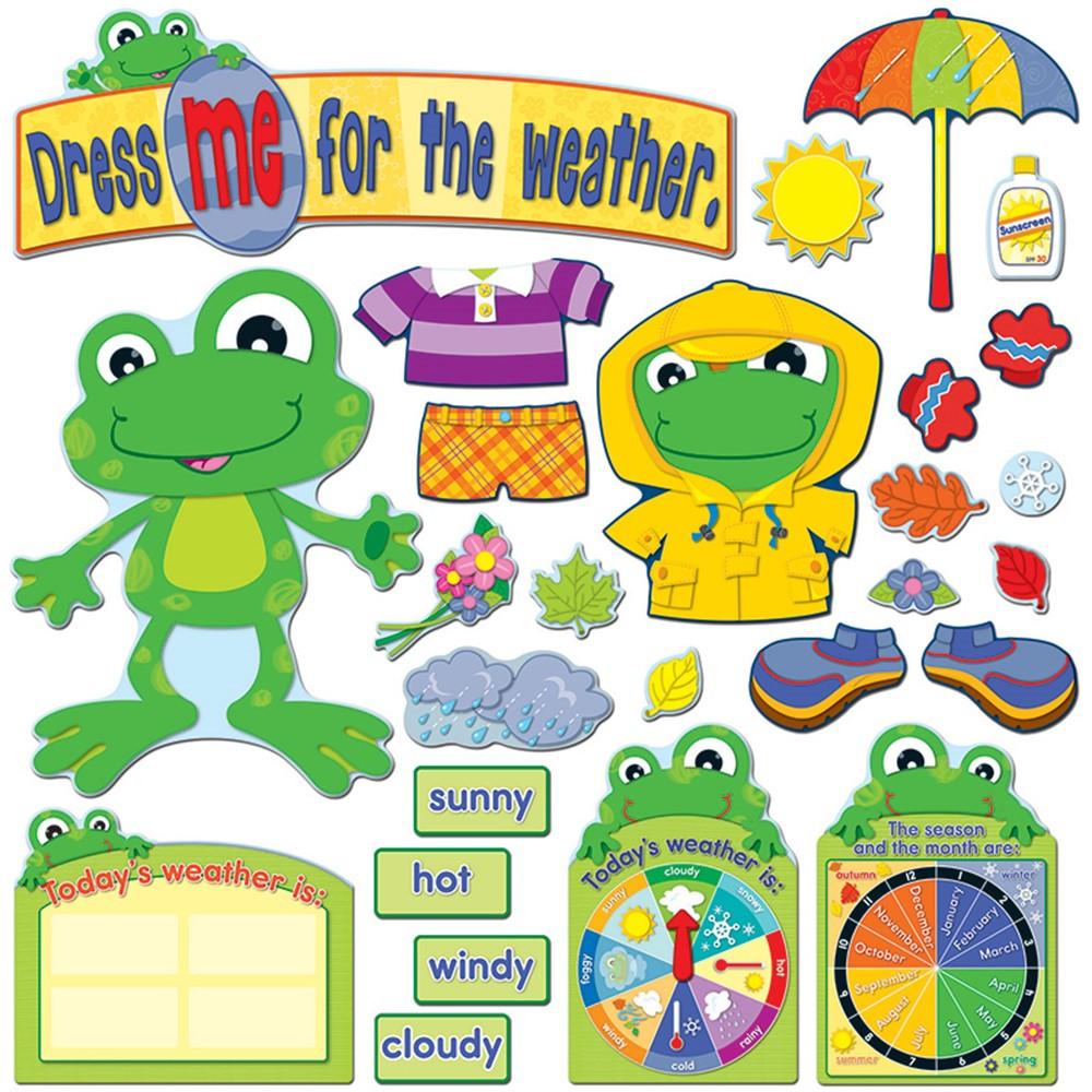 CD-110208 - Funky Frog Weather Bulletin Board Set in Science