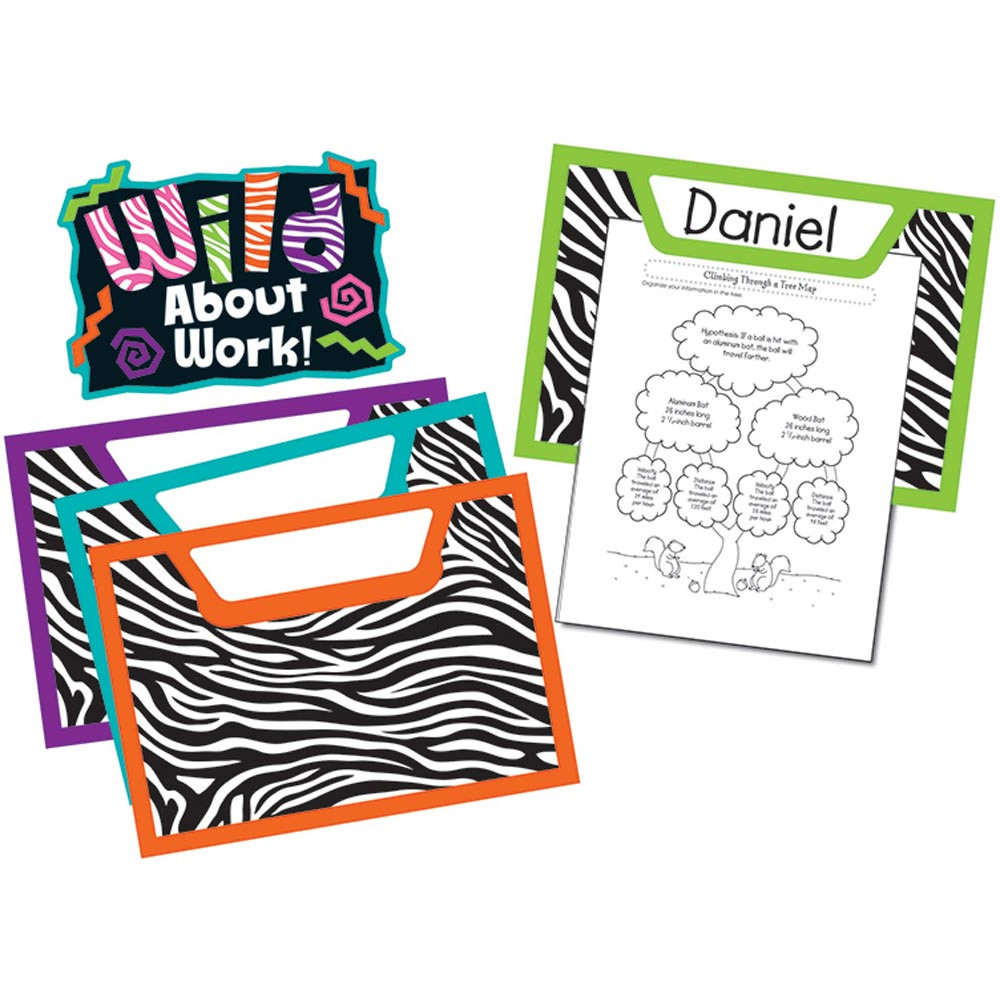 CD-110210 - Wild Style Work Bulletin Board Set in Motivational