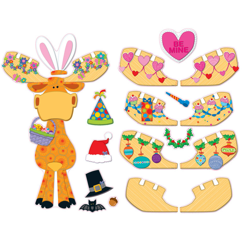 Classroom Decorations Bulletin Board Set ~ Celebrate with moose friends bulletin board set cd