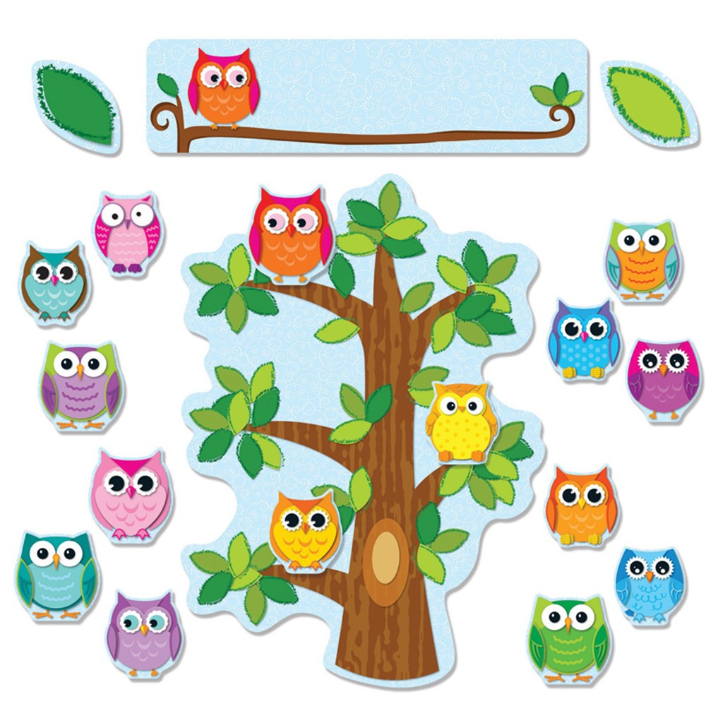 Classroom Decorations Bulletin Board Set ~ Colorful owls behavior bulletin board set cd