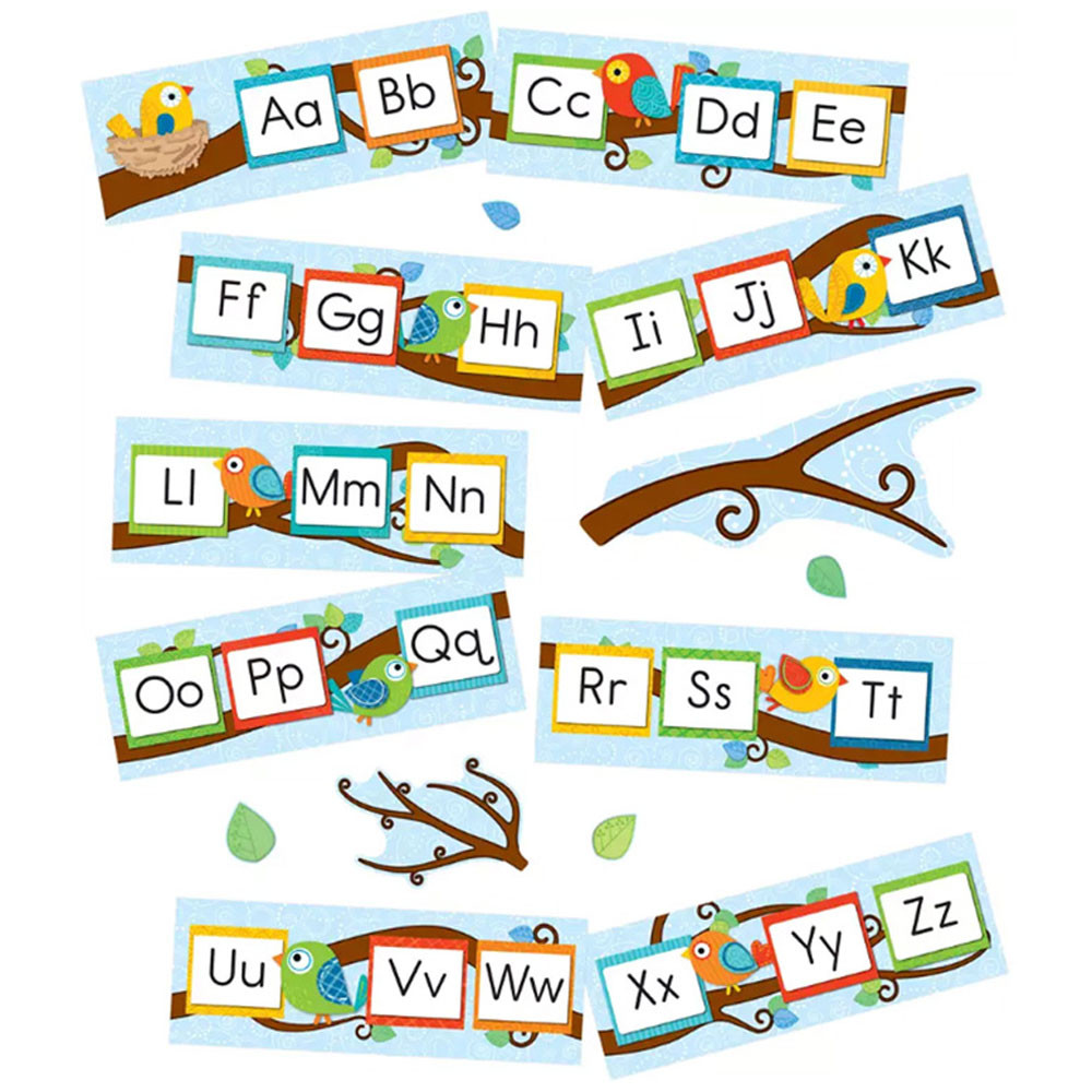 CD-110233 - Boho Birds Alphabet Bbs in Classroom Theme