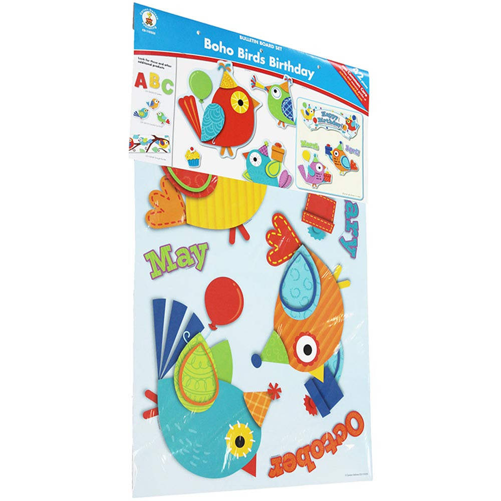 CD-110235 - Boho Birds Birthday Bbs in Classroom Theme