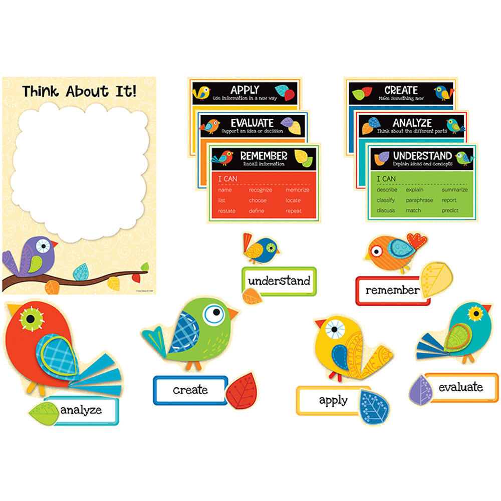 CD-110287 - Higher-Order Thinking Skills Bulletin Board Set in Miscellaneous