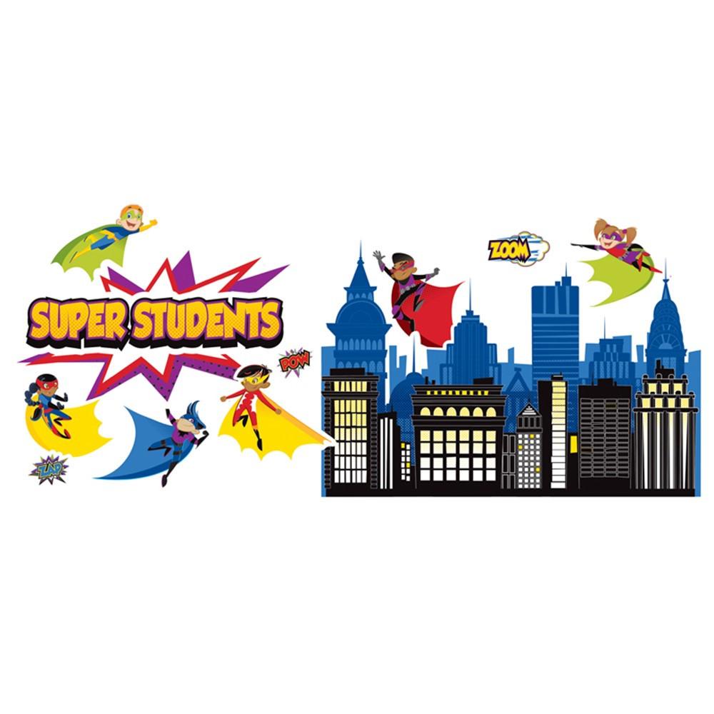 CD-110310 - Super Power Super Kids Bulletin Board Set in Classroom Theme