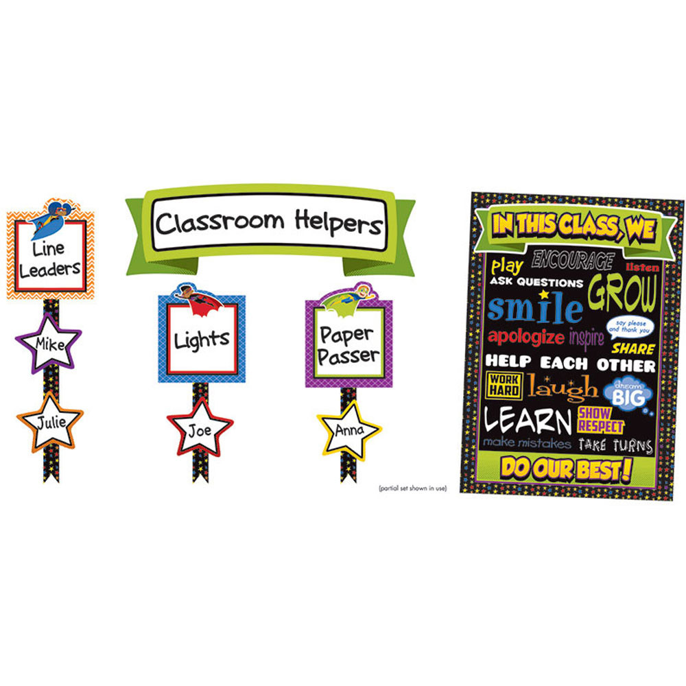 CD-110313 - Super Power Classroom Management Bulletin Board Set in Classroom Theme