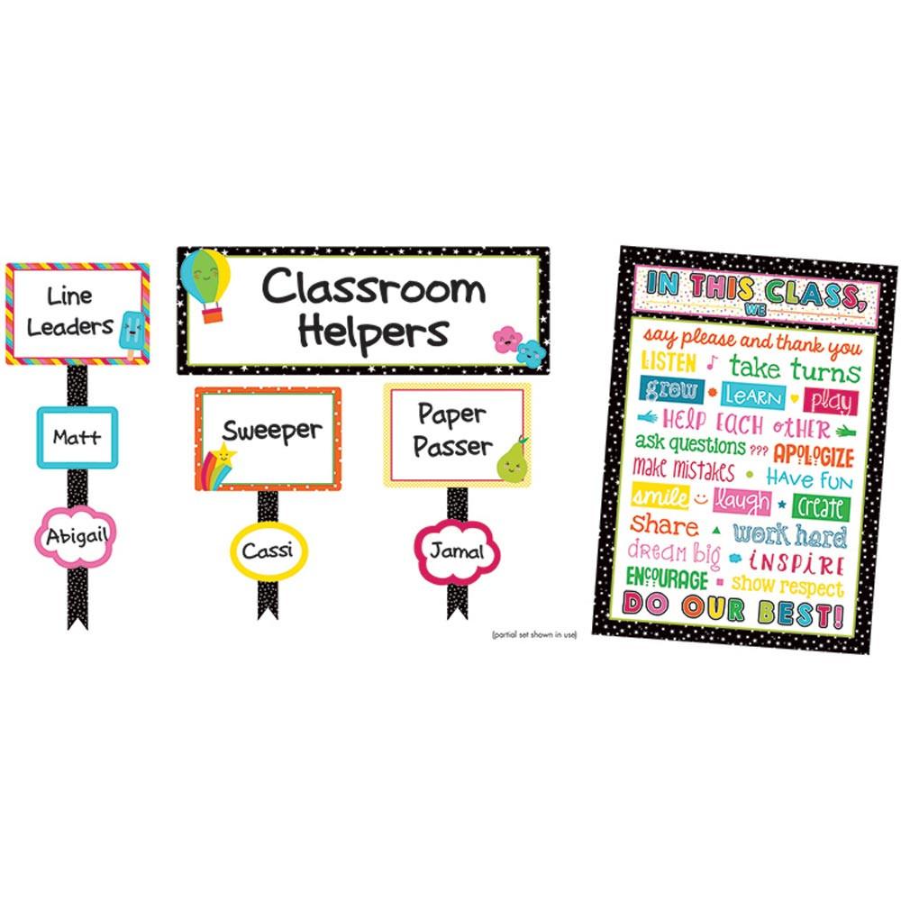 CD-110329 - School Pop Classroom Management Bulletin Board Set in Classroom Theme